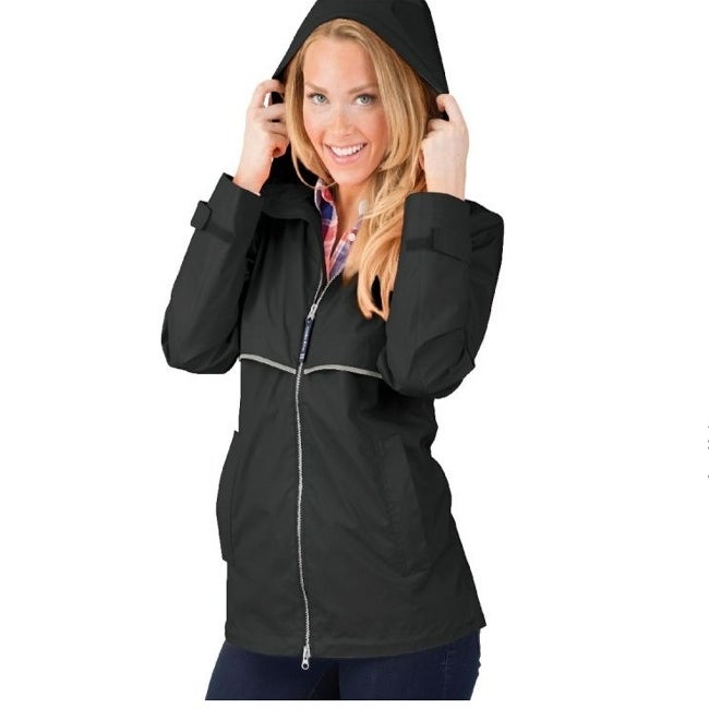 Charles River Womens Englander Rain Jacket Black