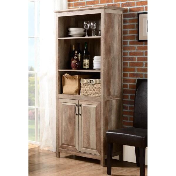 Natural Wood 2-door Display Cabinet