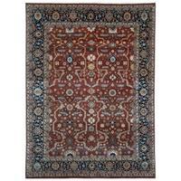 Handmade Herat Oriental Indo Hand-knotted Serapi Wool Rug (7'8 x 9'10) - 7'8 x 9'10