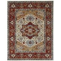 Handmade Herat Oriental Indo Hand-knotted Serapi Wool Rug (8' x 10') - 8' x 10'