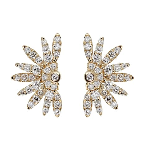 10K Yellow Gold Diamond Earring by Anika And August - White