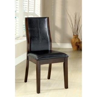 Toronto Dark Oak Wood Upholstered Transitional Style Side Chair