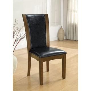 Manhattan I Dark Cherry/Brown Contemporary Side Chair