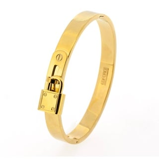 """Gold Plated Stainless Steel Cubic Zirconia X Charm Mesh Hypoallergenic Open Cuff Bangle Bracelet, 7"""""""