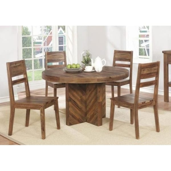Eden Round Varied Natural Dining Table
