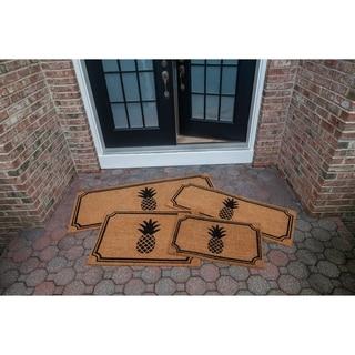 Pineapple Slip Resistant Coir Doormat
