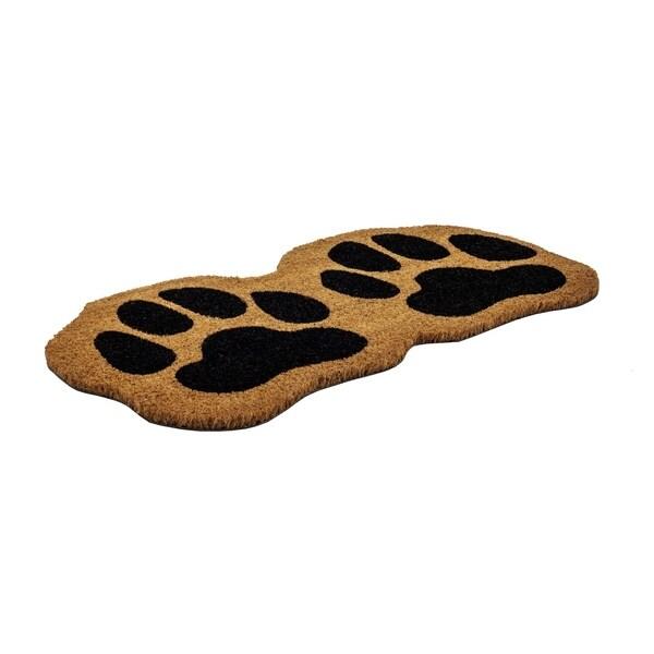 Paw Prints Slip Resistant Coir Doormat