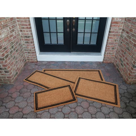 With Border 18x30 Slip Resistant Coir Doormat