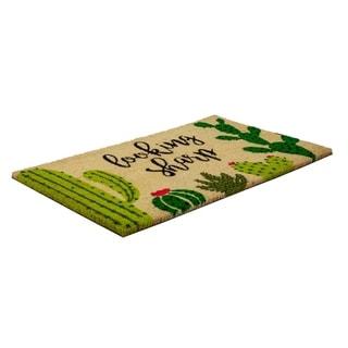 Looking Sharp Slip Resistant Coir Doormat