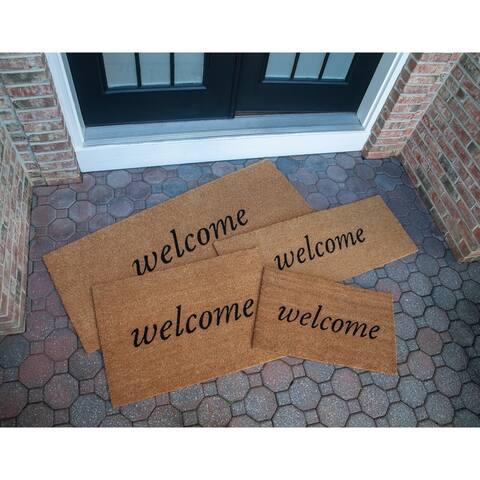 Welcome 18X30 Slip Resistant Coir Doormat