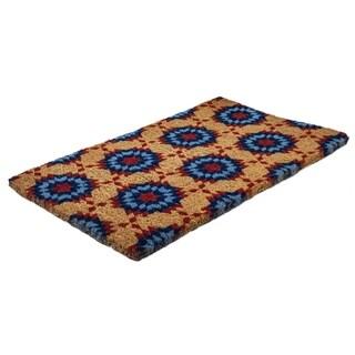 Williamsburg Star Quilt Handwoven Coconut Fiber Doormat