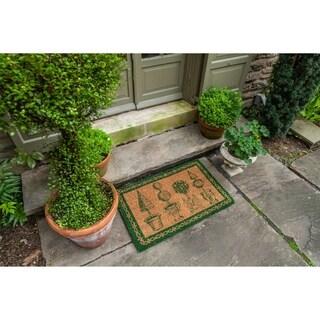 Williamsburg Topiary Handwoven Coconut Fiber Doormat