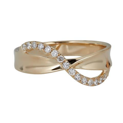 10K Yellow Gold Diamond Ring by Anika And August - White
