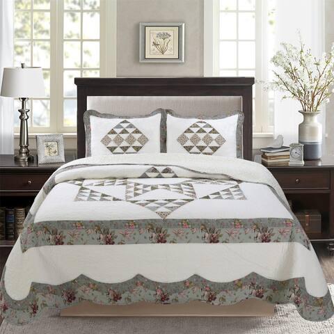 All Cotton Star Patchwork Quilt Set