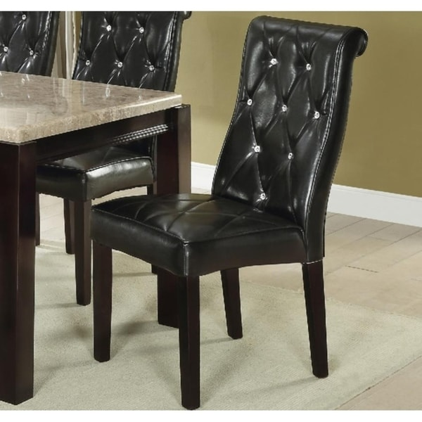 Faux Leather Parsons Dining Room Chairs: Shop Darcy Black Faux Leather Upholstery Parson-style Dining Chair