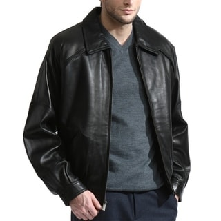 Link to Men's Premium Lambskin Leather Bomber with Raglan sleeves Similar Items in Men's Outerwear