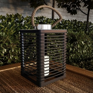Link to Solar Powered Lantern with LED Flameless Candle by Pure Garden Similar Items in Outdoor Decor