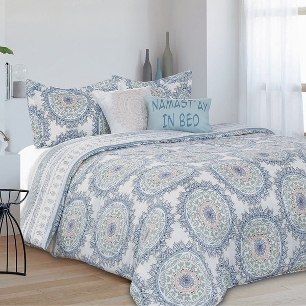 Skye Boho Medallion Reversible 5 Piece Comforter Set