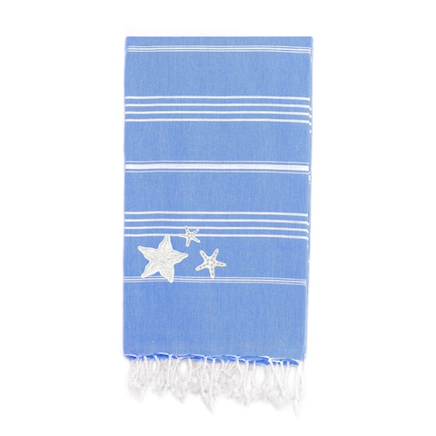 Authentic Starfish Pestemal Striped Assorted Colors Turkish Cotton Beach Towel