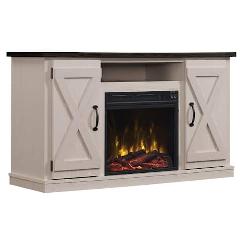"""Cottonwood Fireplace TV Stand for TVs up to 55"""", Two-tone"""