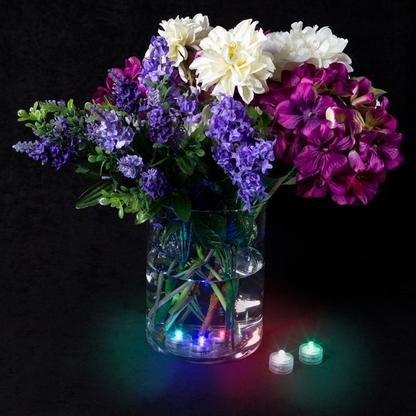 12 Submersible Wedding Floral LED Color Change light Centerpiece Vase Decoration