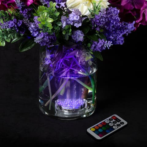 Waterproof LED Light Multicolored Battery Operated with Remote- 10-LED-Décor for Parties, Weddings and More by Lavish Home