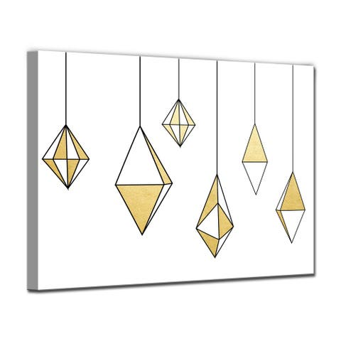 Ready2HangArt 'Glam Dangles' Wrapped Canvas Christmas Wall Art