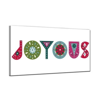 Ready2HangArt 'Joyous' Wrapped Canvas Christmas Wall Art