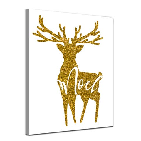 Ready2HangArt 'Glam Noel' Wrapped Canvas Christmas Textual Wall Art