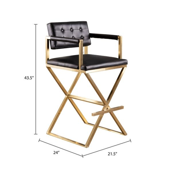 Admirable Shop Abbyson Stevie Black Director Bar Stool On Sale Gmtry Best Dining Table And Chair Ideas Images Gmtryco