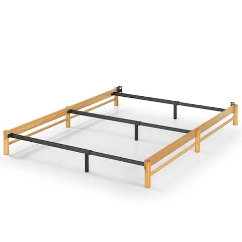 Priage by Zinus Newport Wood and Metal Compack Bed Frame
