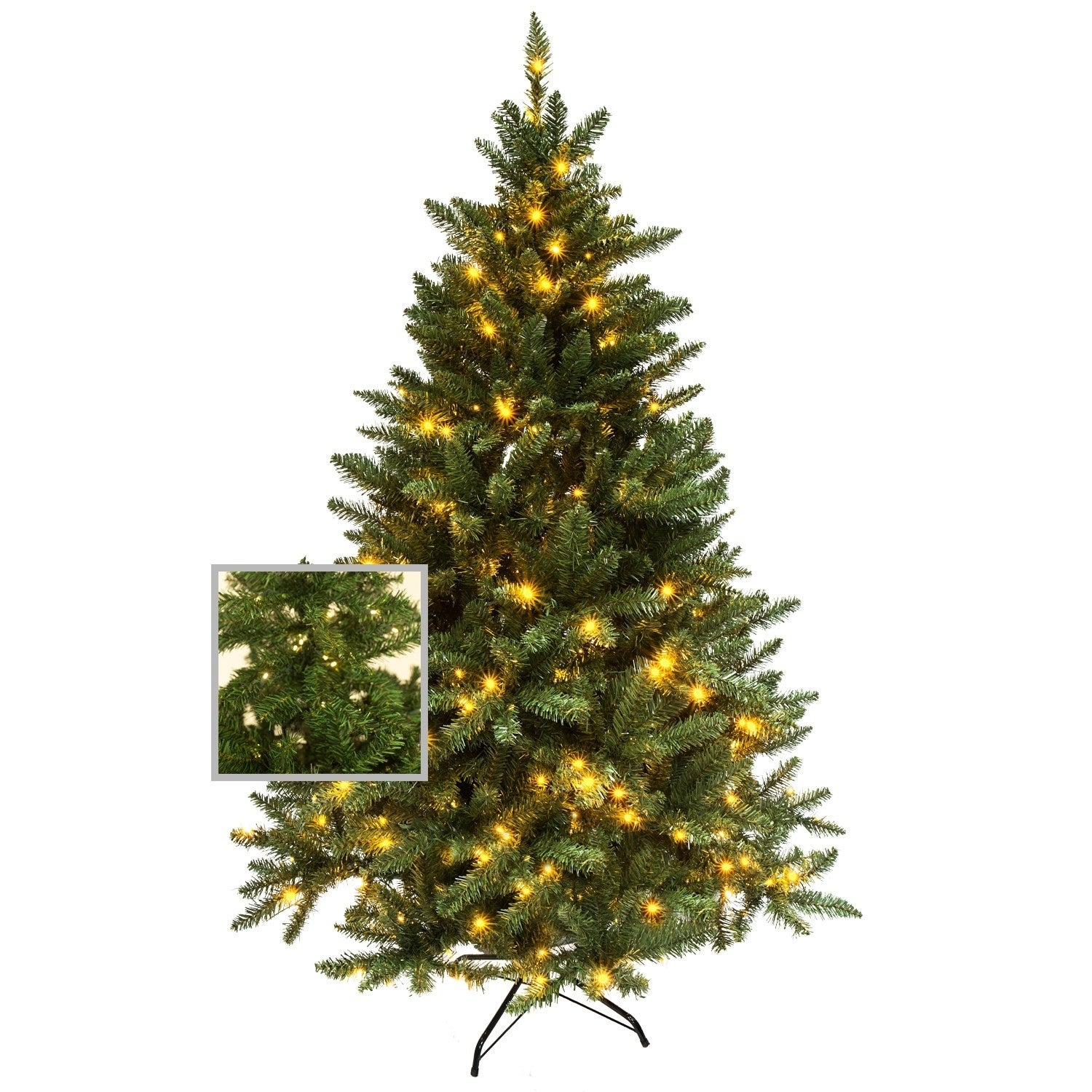 huge selection of a9ebe 61e56 Artificial Premium Christmas Pine Tree with or Without LED Pre Lit  4,5,6,7,9 Feet Metal Base