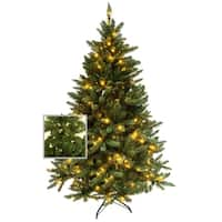 Artificial Premium Christmas Pine Tree with or Without LED Pre Lit 4,5,6,7,9 Feet Metal Base