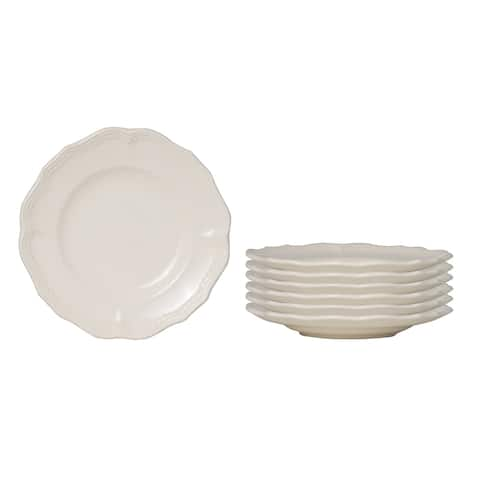 Red Vanilla Classic White Bread and Butter Plate Set of 6