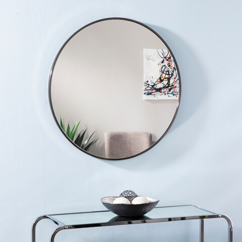 Silver Orchid Bech Round Decorative Wall Mirror - A/N