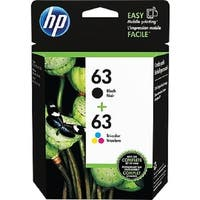HP 63/63 Black/Tri-Color Ink Cartridges, L0R46AN, 2/Pack