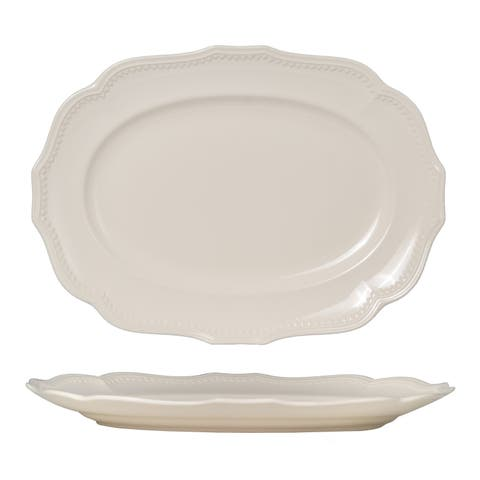 Red Vanilla Classic White Oval Platter