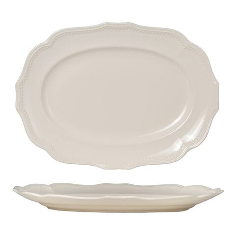 Red Vanilla Classic White Oval Platter