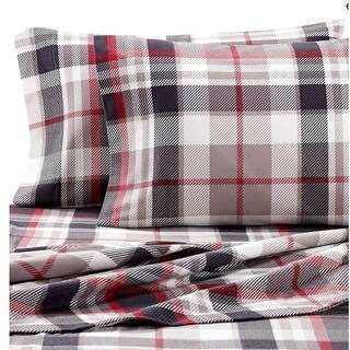 "Luxury Cotton Flannel Sheets with 18"" Deep Pocket, Warm for Winter, Cozy, Lightweight, Winter Sheet Sets"
