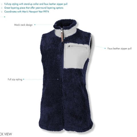 Charles River Apparel Women's Newport Vest, Navy