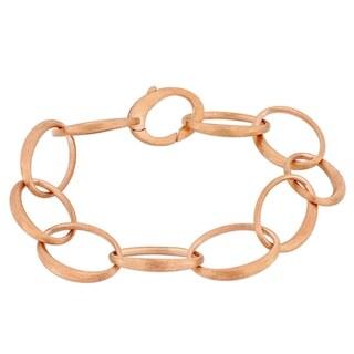 Miadora 18k Rose Gold Oval Link Bracelet