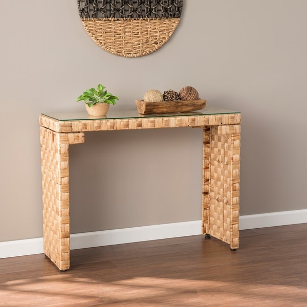The Curated Nomad Terraza Hyacinth Console Table