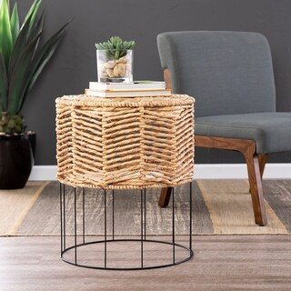 Holly & Martin Corto Water Hyacinth Accent Table