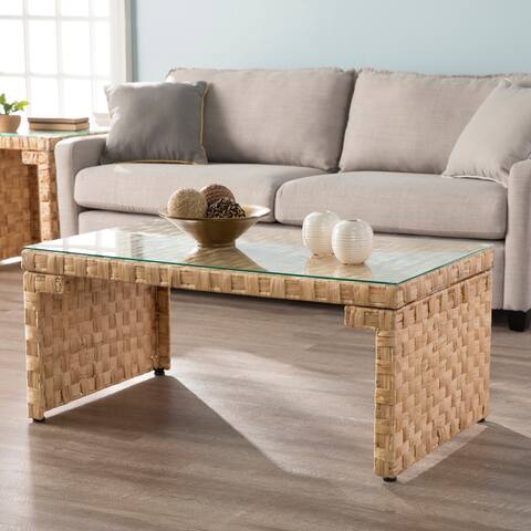 The Curated Nomad Terraza Hyacinth Coffee Table