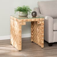 The Curated Nomad Terraza Hyacinth End Table
