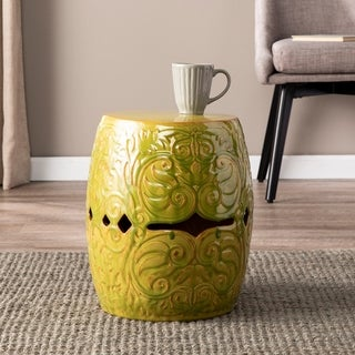 Quse Green Ceramic Side Table