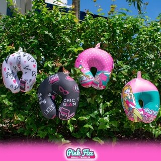 Pink Fizz Girls Soft Microbeads Neck Pillow for Supportive Comfort.