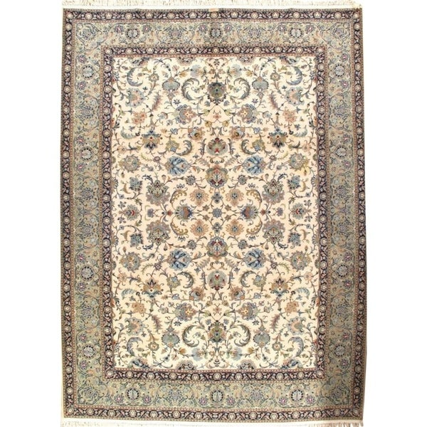 Persian Hand Knotted Kashan Silk And Wool Area Rug Ebth: Shop Pasargad DC Signed Persian Kashan Handmade Hand