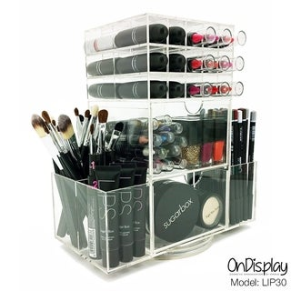 OnDisplay LIP30 Rotating Acrylic Cosmetic/Makeup Organizer