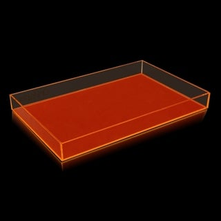 OnDisplay Electric Neon Luxe Clear Acrylic Stackable Cosmetic/Jewelry Tray